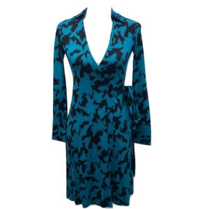 Diane Von Furstenburg Silk Wrap Dress, Size 0